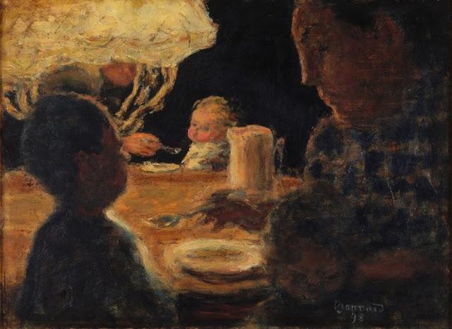 ランプの下の昼食