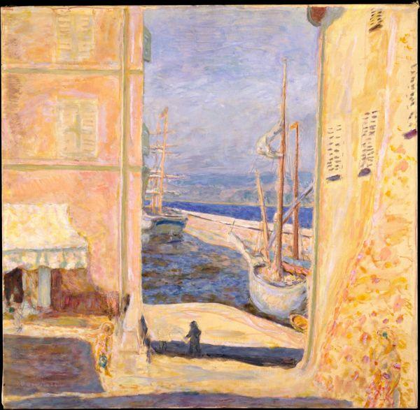 古い港の眺め、サントロペ