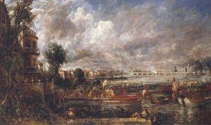 ウォータールー橋の開通式(ホワイトホール階段からの眺め、1817年6月18日)