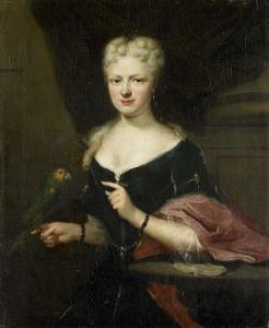 ツィエリクゼーの評議員、エルケルゼーのヤコブ・デ・ウィッテの妻、マリア・マグダーレン・スタヴェニッセの肖像