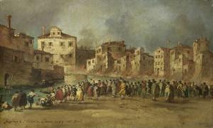 1789年11月28日の、ヴェニスのサン・マルキュオーラの居住地の火災