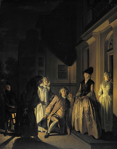 M.ヴァン・ブレダの劇、「高貴な農夫、ルベルト・ルベルツェ」からの場面