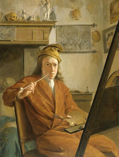画家の肖像、おそらく自画像