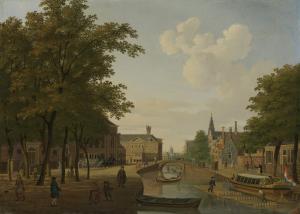 アムステルダムのハートマークトの景色