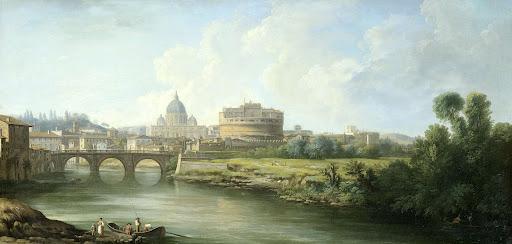 ローマの聖アンジェロ城の眺め