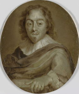 詩人コンスタンティン・ユイジェーンの肖像、フレデリック・ヘンリーと王子ウィリアム2世の秘書官で、第一顧問官、ウィリアム3世の大蔵大臣