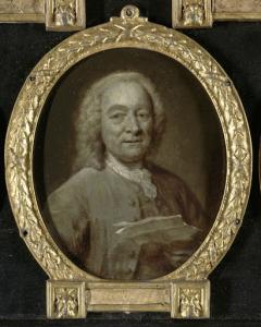 ヤン・ハーメンス・デ・マレー(1696-1763)の肖像。船乗り、詩人そしてアムステルダム劇場の監督