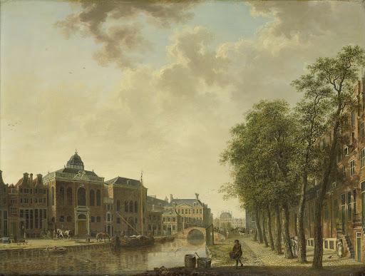 アムステルダム、ホートマルクトの眺め