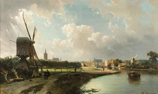 17世紀のデルフト・ファールトからのハーグの眺め