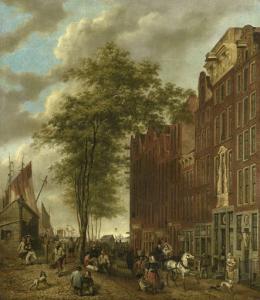 アムステルダムの砥石市場