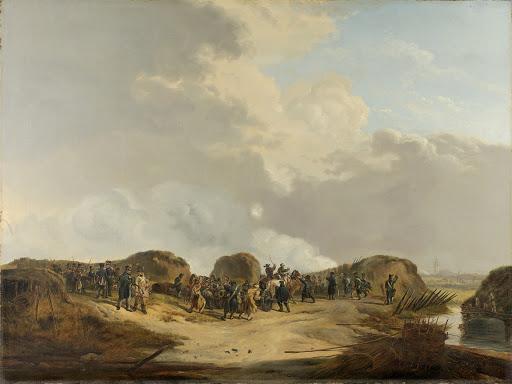 1814年4月、ナールデン包囲郭で建設された三日月型