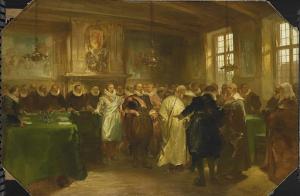 1614年、マウリッツ王子がロシアの代表任命を受け入れる