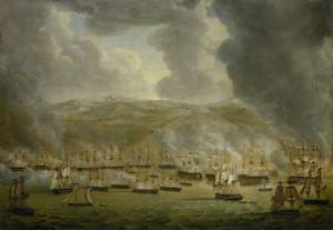 1816年アルジェでの英蘭連合艦隊の攻撃