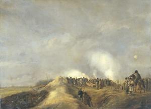 1814年4月、ナールデンの砲撃