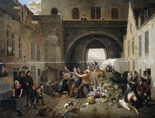 ブリュッセル、ハル門での衝突