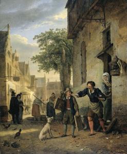 ヤン・スティーンがビールとワインのための絵画を交換するために彼の息子を送る道
