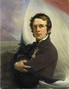 1831年3月、敵の砲火からオランダの旗を救った、ヤコブ・ホベインの肖像