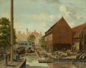 アムステルダム、ビッケルズ島にある造船所「オランダの庭」