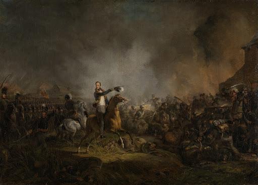 1815年6月16日、カルト・ブラの戦いでのオラニエ公