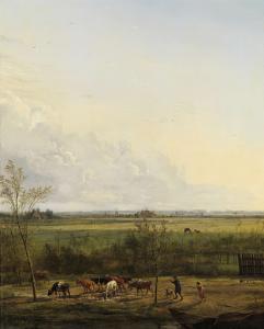 グレイヴランドの牧草地の遠い景色