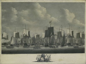 フリシンゲンの港から出航する艦隊、1804年