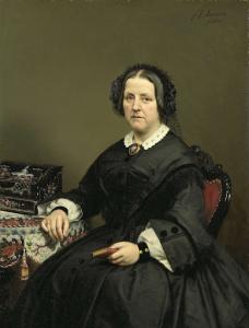 ウィルへルミナ・マルガレータ・ファン・デン・ボス(1807-74)。ジェラルド・ヨハン・バーロレン・ファン・テマートの妻