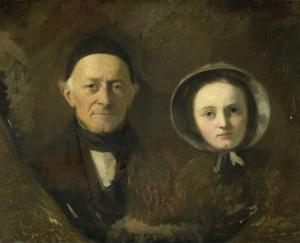 ヨハン・ヨセフ・ハーマンの肖像、作家の義父、彼の孫イダ・シュワルツ、作家の長女とともにいる