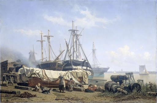 マースの造船所での真昼の休息