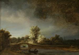 石橋のある風景