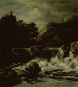 滝がある山の風景