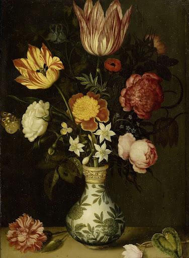 萬里花瓶に入った花の静物