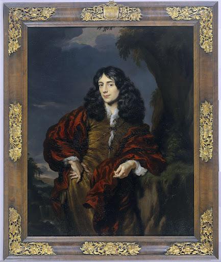 おそらくシモン・ヴァン・アルフェン(1650-1730)であろう、若い男の肖像