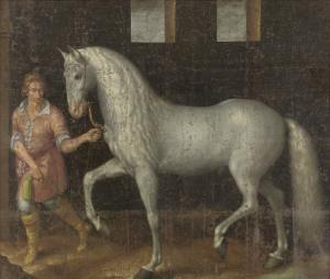 ニューポートの戦いでオーストリアのアルクデューク・アルバートからローデワイク・フンテル・ヴァン・ナッサウによって掴まえられ、マウリッツ王子に贈呈された、スペインの軍馬