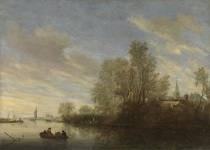 デヴェンテル近郊の川の眺め