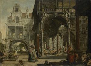 空想のルネッサンス様式宮殿