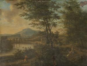 日暮れのイタリアの風景