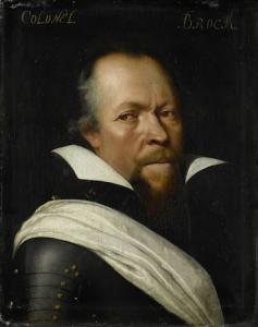 旧スコットランド衛兵の大佐、ウィリアム・ブログの肖像