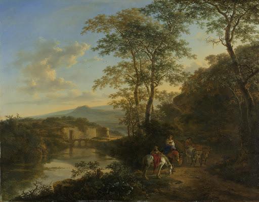 モーレ橋がある、イタリアの風景