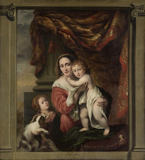 愛、ヨアンナ・デ・ゲール(1629-1691)と彼女の子ども、セシリア・トリップ(1660-1728)とローレンス・トリップ(1662生)