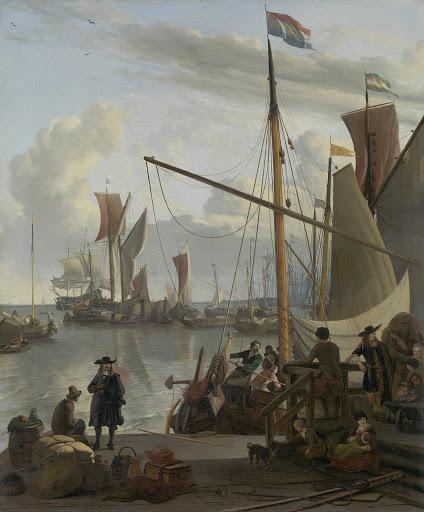 モーゼルの埠頭から見た、アムステルダム湾