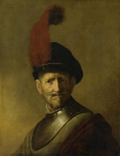 おそらくレンブラントの父、ハルマン・ヘリッツ・ヴァン・リーンであろう、男の肖像