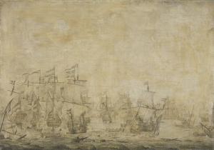1658年11月8日、オランダとスウェーデンの艦隊の間の戦い