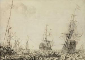 港近くの船