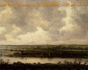 スパルネ川とハーレマーメールの広大な眺め