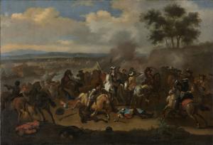 1690年7月12日、ジェームス2世とウィリアム3世との間の、アイルランド、ボイネの戦い