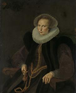ヴァン・ネックと呼ばれていた、ヤコブ・コルネリス・バンヤールトの妻、フリエテ・ヤコブスドル・ヴァン・ライン(1585-1652)