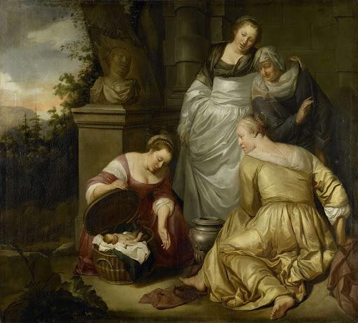 セクロプスの娘たちによって見つけられたエリフトニウス