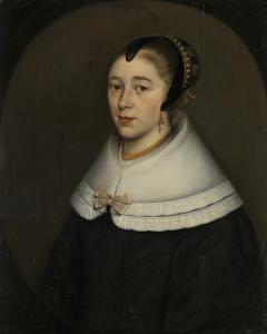 バルトロメーウス・フェルマイデンの妻、カタリーナ・ケッティンフ(1626/27-73)と思われる、女の肖像