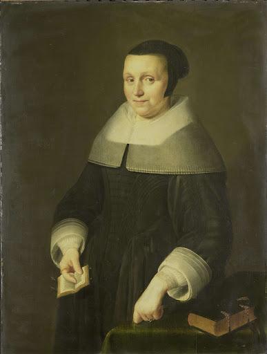 ウィレム・ヴァン・デ・ヴェルデンの妻、エルシャ・ヴァン・ホーウェニンヘンであろう、女の肖像