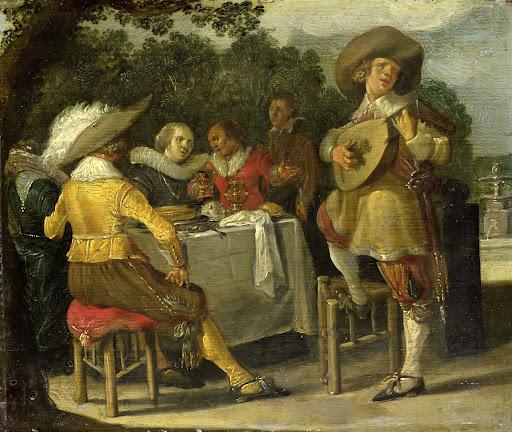 野外のパーティー